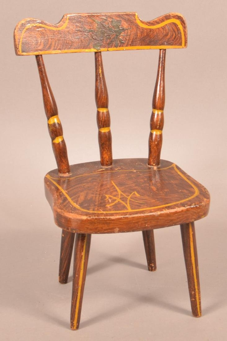 PA 19th Century Miniature Chair.