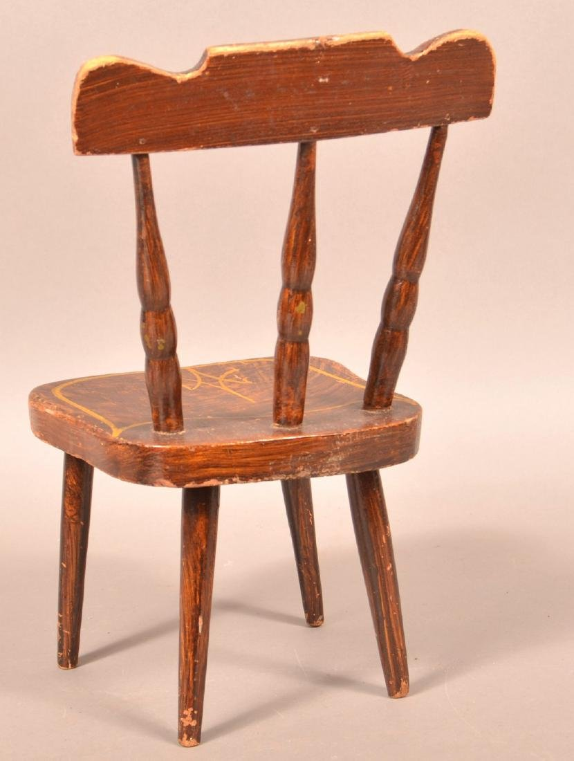PA 19th Century Miniature Chair. - 2