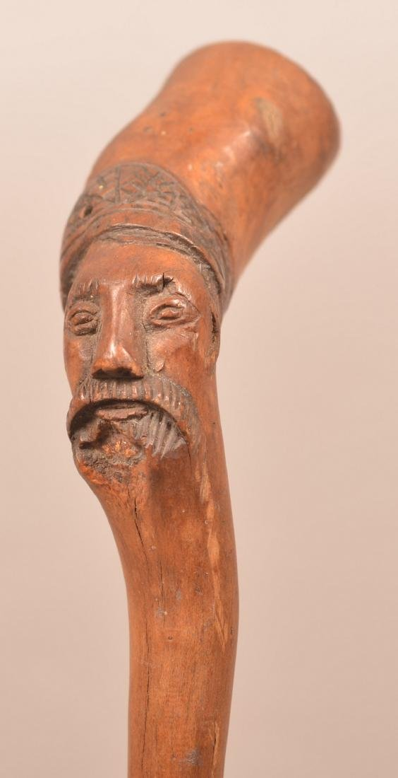 Pennsylvania 19th Century Carved Folk Art Cane.