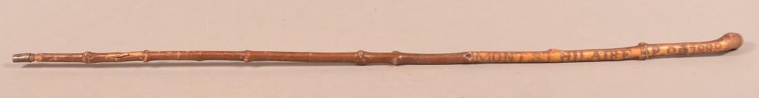 """Carved Cane """"MONT S.T. HILLAIRE. P.Q. 1888"""". - 3"""