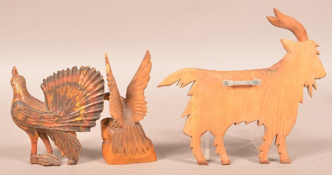 Three Various Antique/Vintage Wood Carvings. - 2