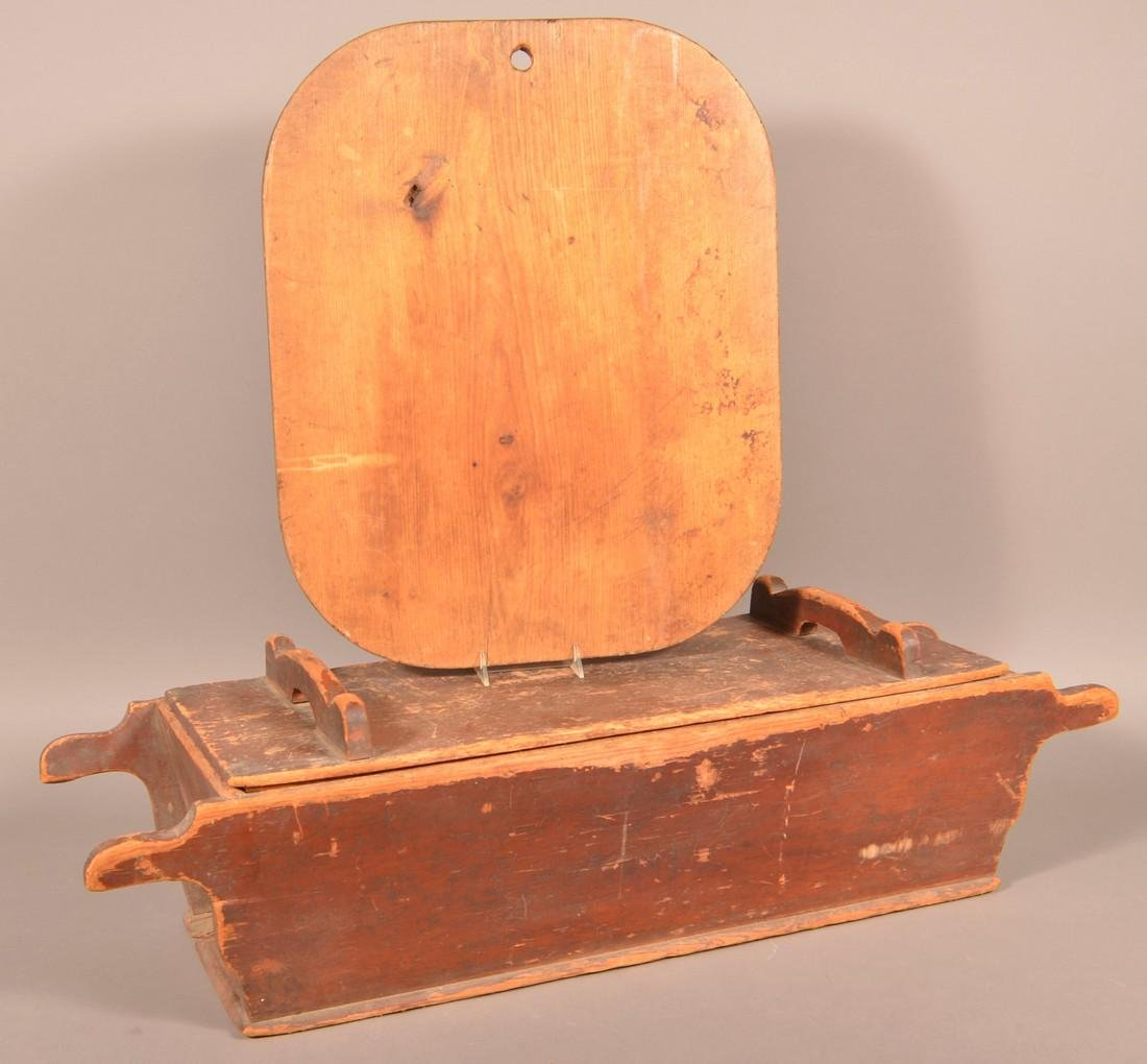 Antique Softwood Dough Box and Pie Board.