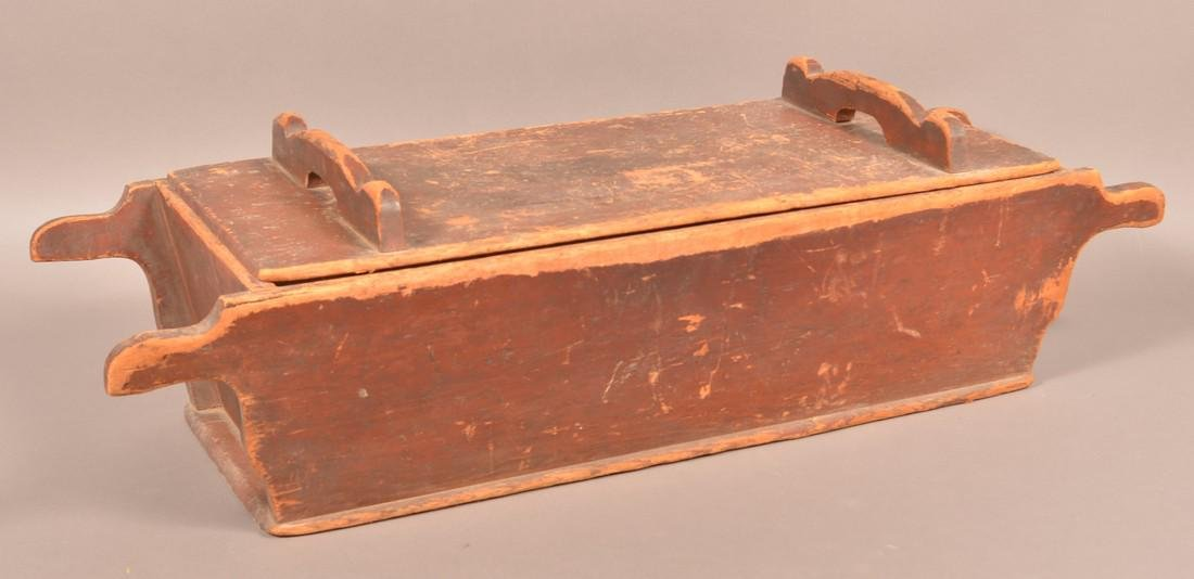 Antique Softwood Dough Box and Pie Board. - 2
