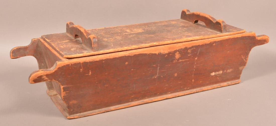 Antique Softwood Dough Box and Pie Board. - 3