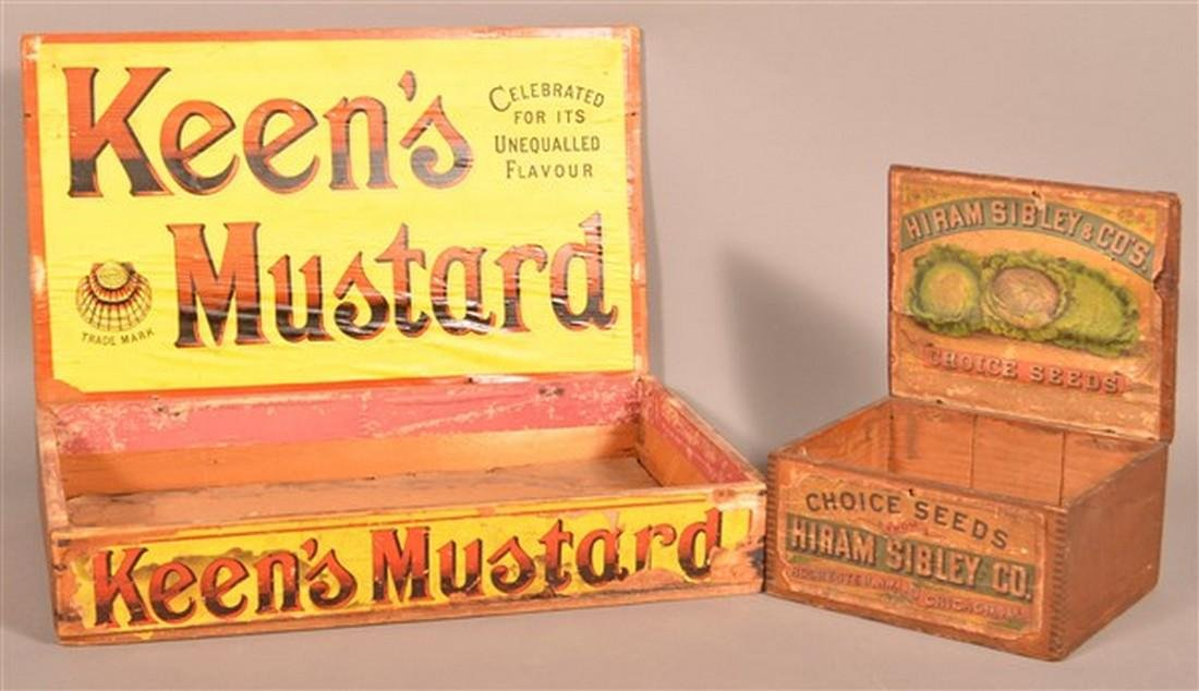 Two Antique Advertising Boxes.