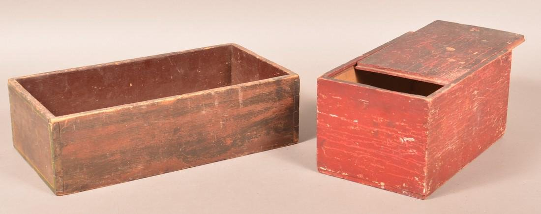 Two Various Painted Wood Boxes. - 2