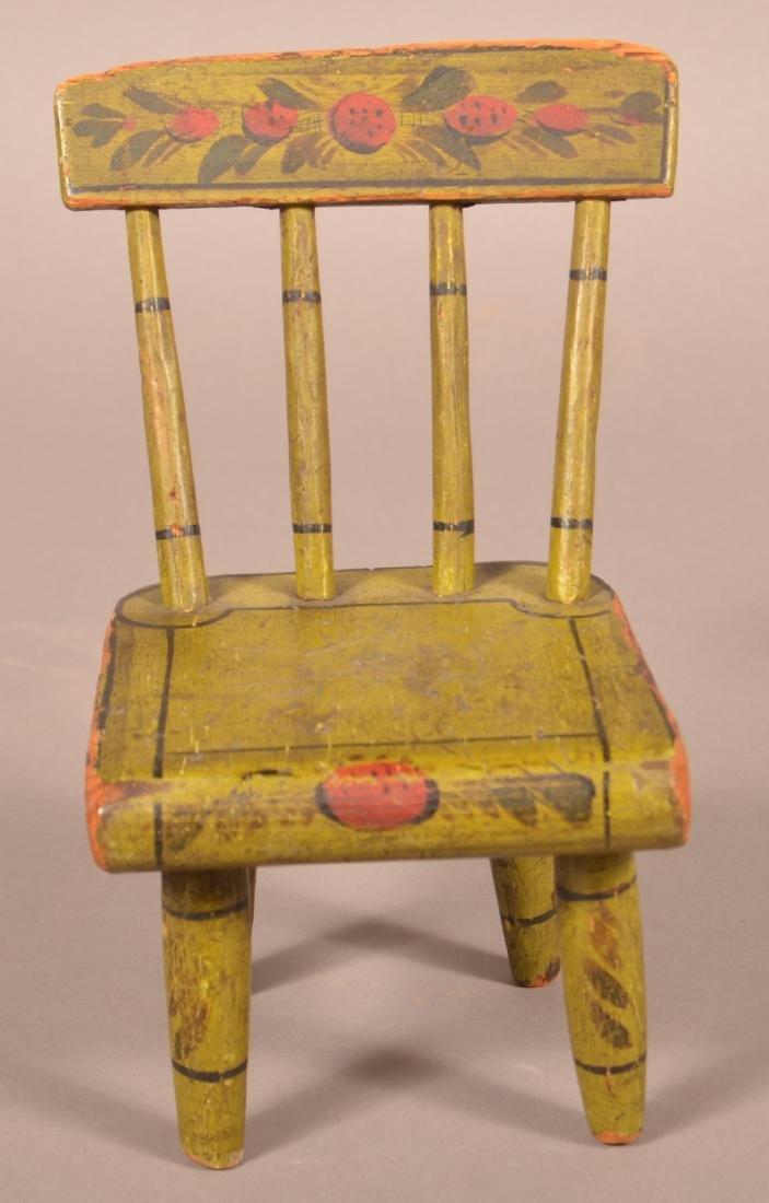 Pennsylvania 19th Century Miniature Chair.