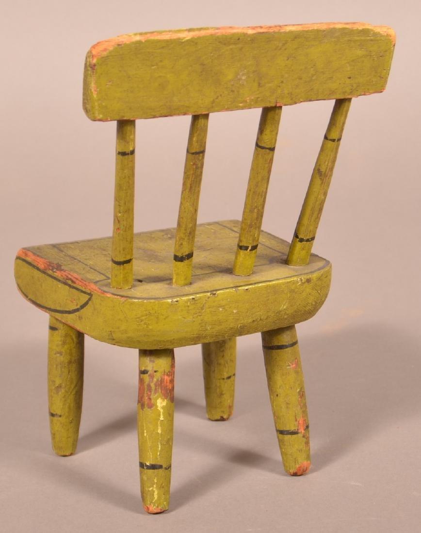 Pennsylvania 19th Century Miniature Chair. - 2