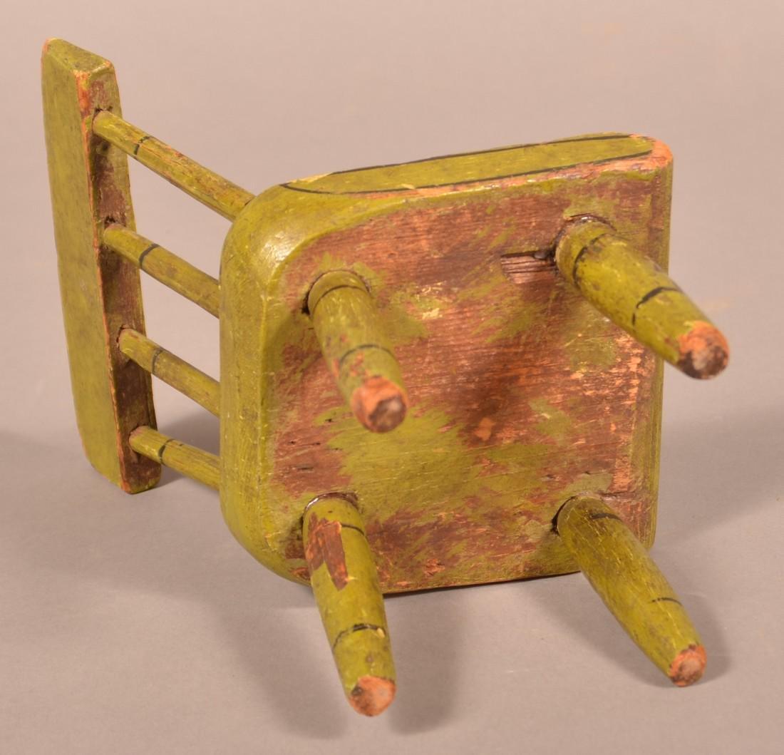 Pennsylvania 19th Century Miniature Chair. - 3