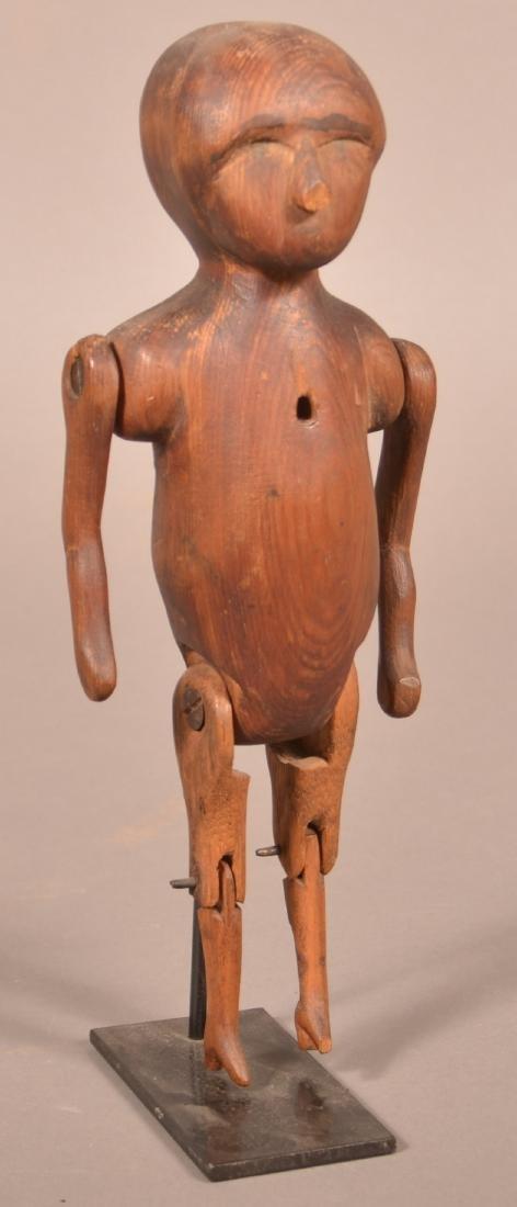 Antique Folk Art Carved Wood Figure.