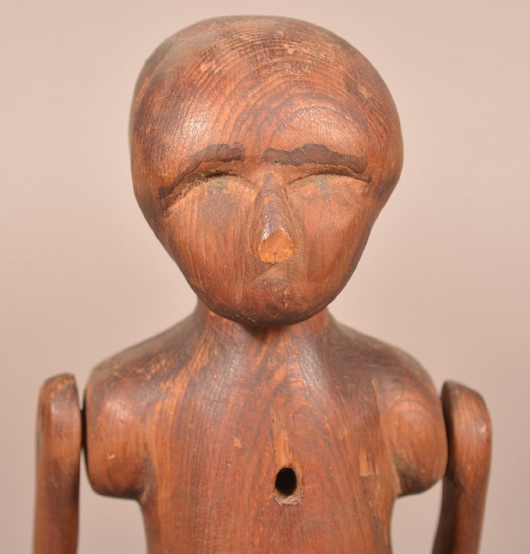 Antique Folk Art Carved Wood Figure. - 2