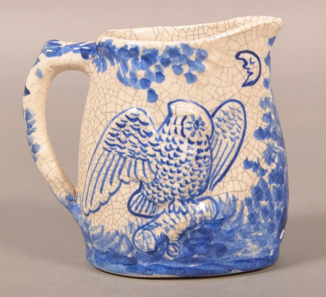 Dedham Pottery Night and Morning Pitcher. - 2