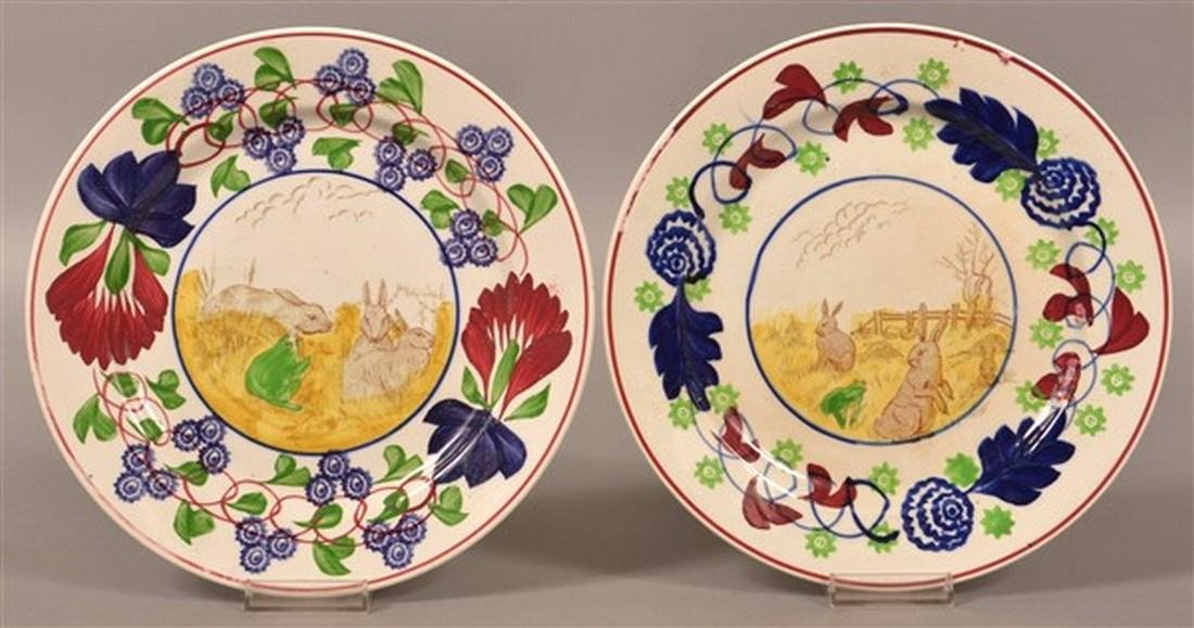 Two Rabbitware with Frog Ironstone China Plates.