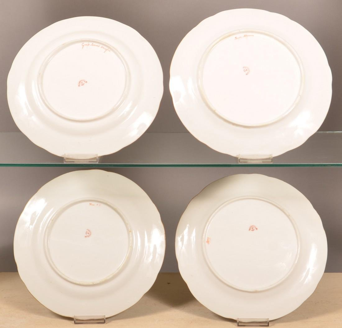 Set of Four Davenport China Hand Painted Plates. - 2