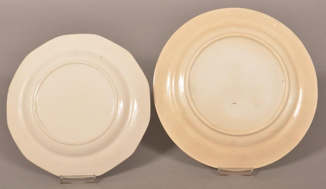 Two Sponge Border Ironstone China Plates. - 2