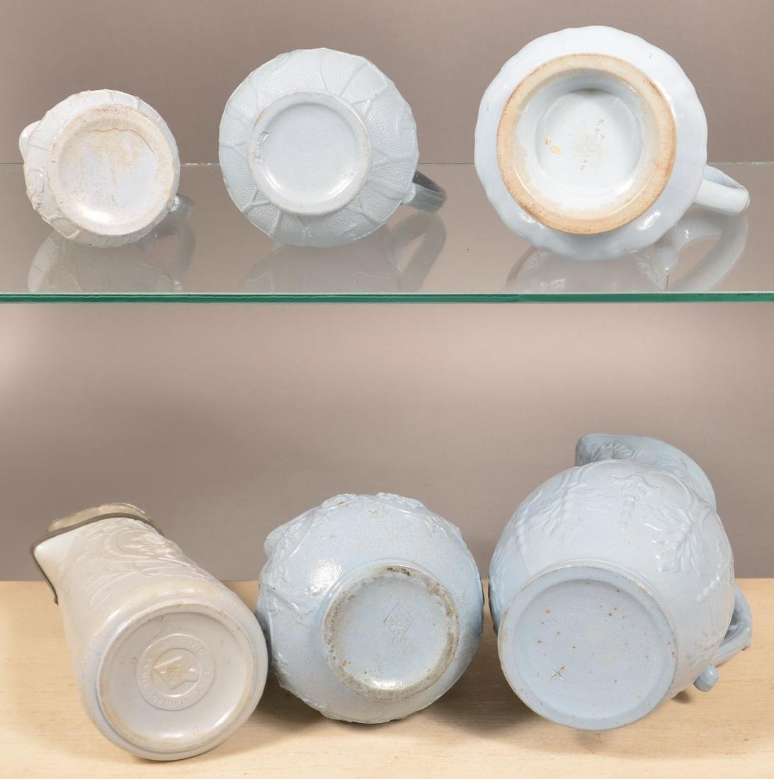 Six Pieces of English 19th Century Blue Parian. - 3