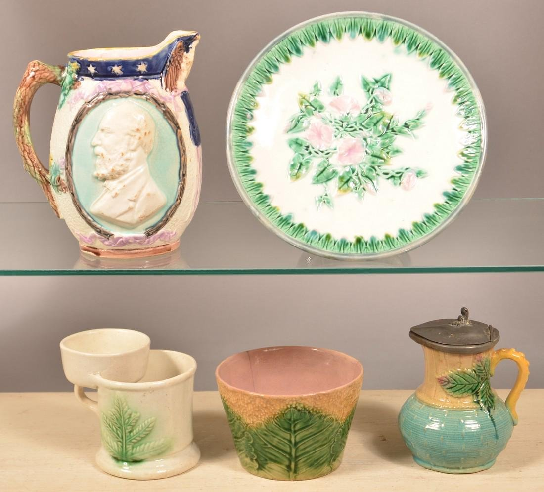 Five Pieces of Majolica Pottery. - 2