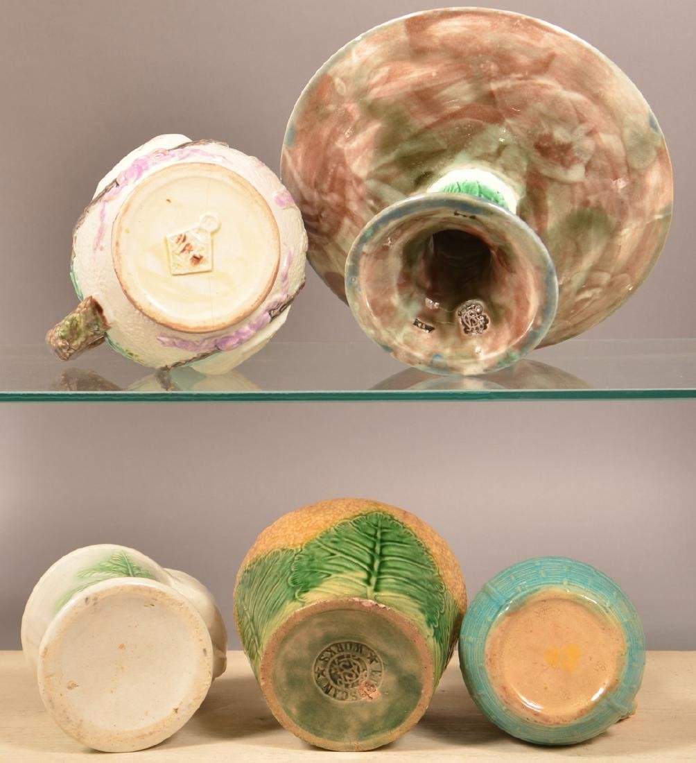 Five Pieces of Majolica Pottery. - 3