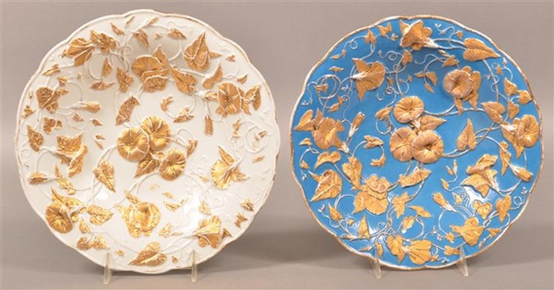 Two Meissen Porcelain Morning Glory Bowls.