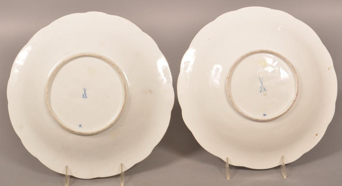 Two Meissen Porcelain Morning Glory Bowls. - 2