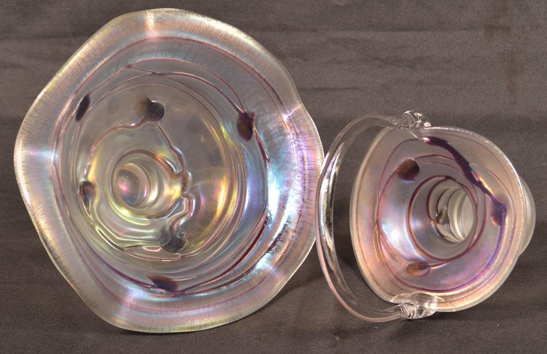 Two Pieces of Art Glass Attributed to Steuben. - 3