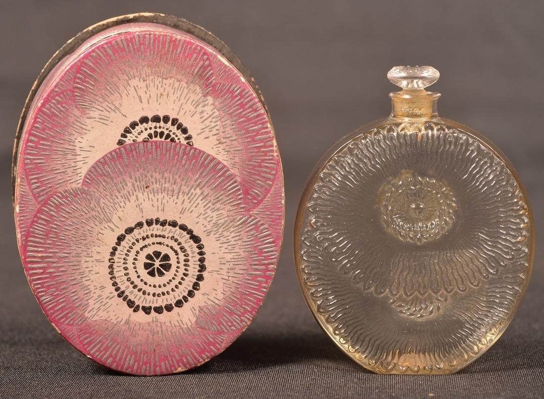 "Rare R. Lalique ""PAVOTS"" Perfume with  Box."