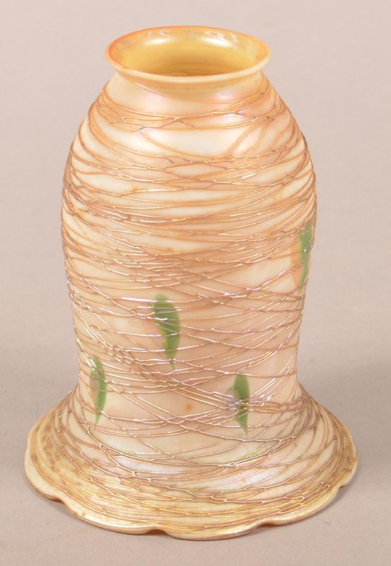 Quezal Art Glass Lamp Shade. - 2