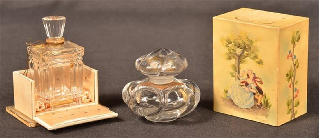 Two Baccarat, France Crystal Perfume Bottles.