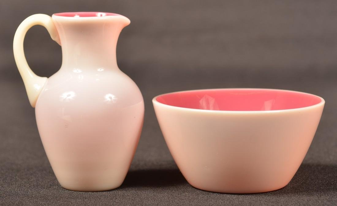 2 Pieces of New England Peachblow Glass.