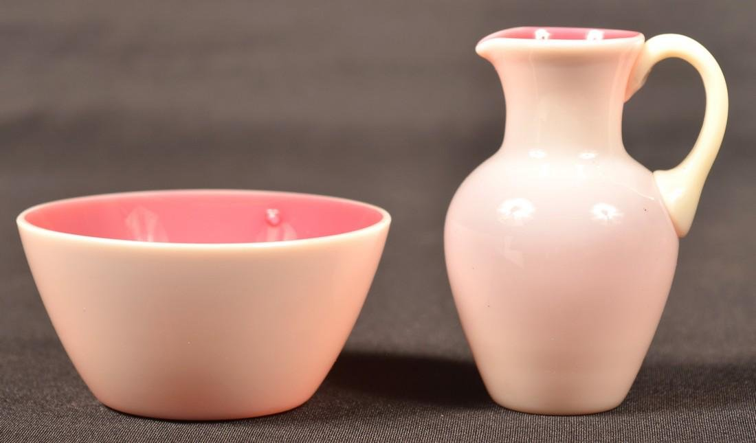 2 Pieces of New England Peachblow Glass. - 2