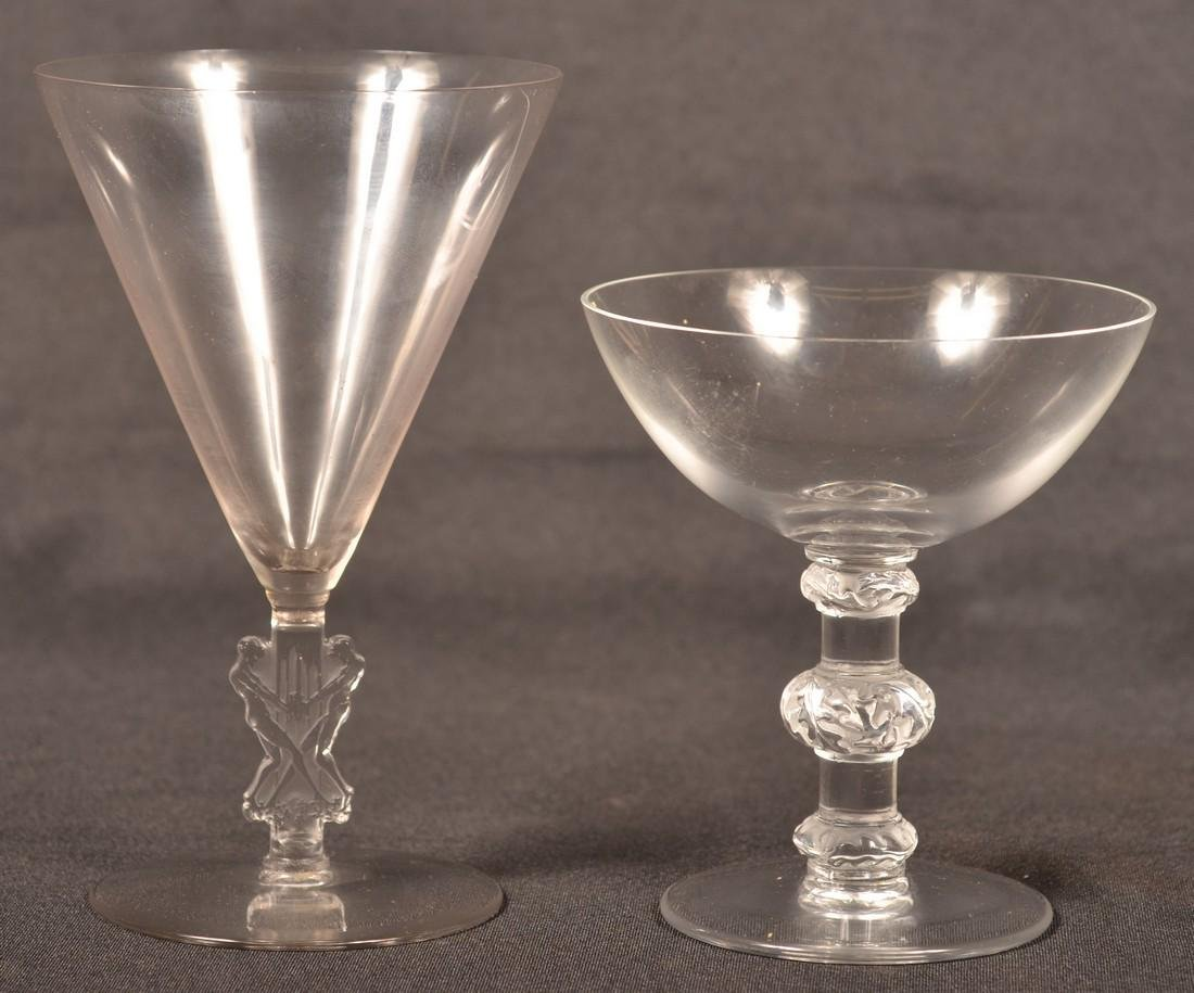 Two Pieces of Lalique Crystal Stemware. - 2