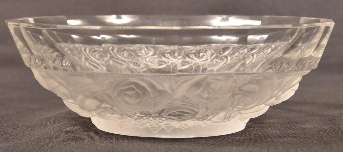 Lalique Cherub and Roses Crystal Bowl. - 2
