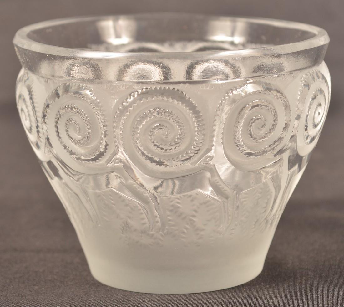 Lalique Art Deco Antelope Vase.