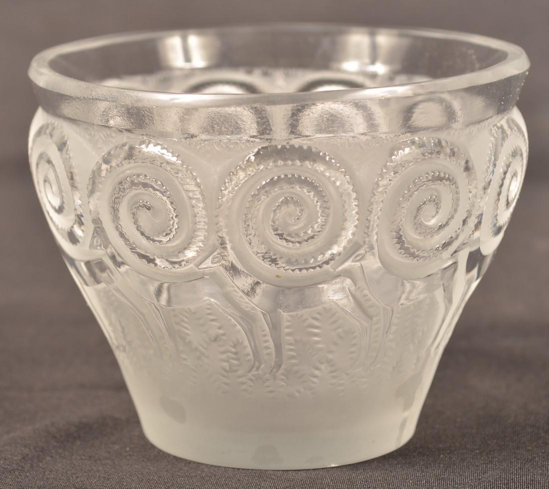 Lalique Art Deco Antelope Vase. - 3