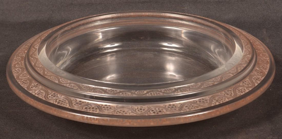"""Lalique """"Ricquewihr' Art Deco Console Bowl."""