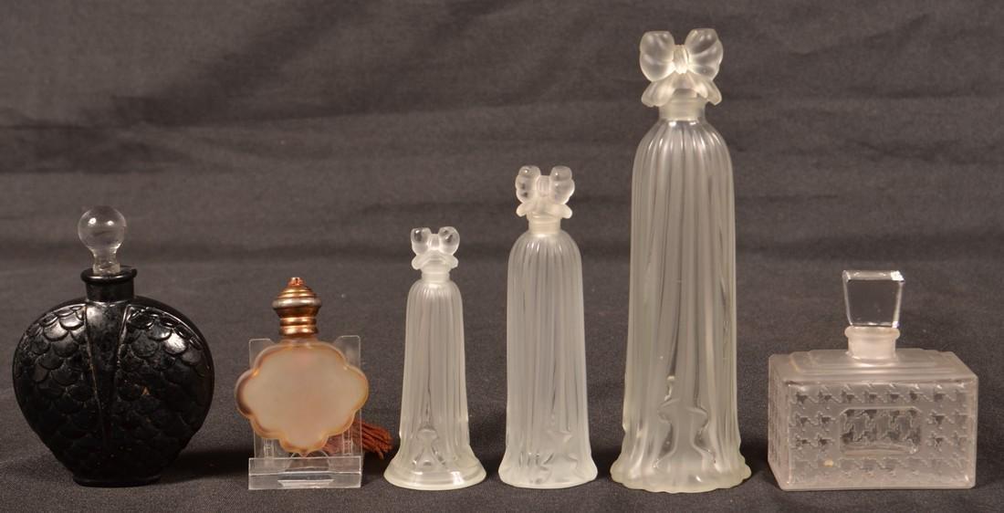 Six Various Glass Perfume Bottles.