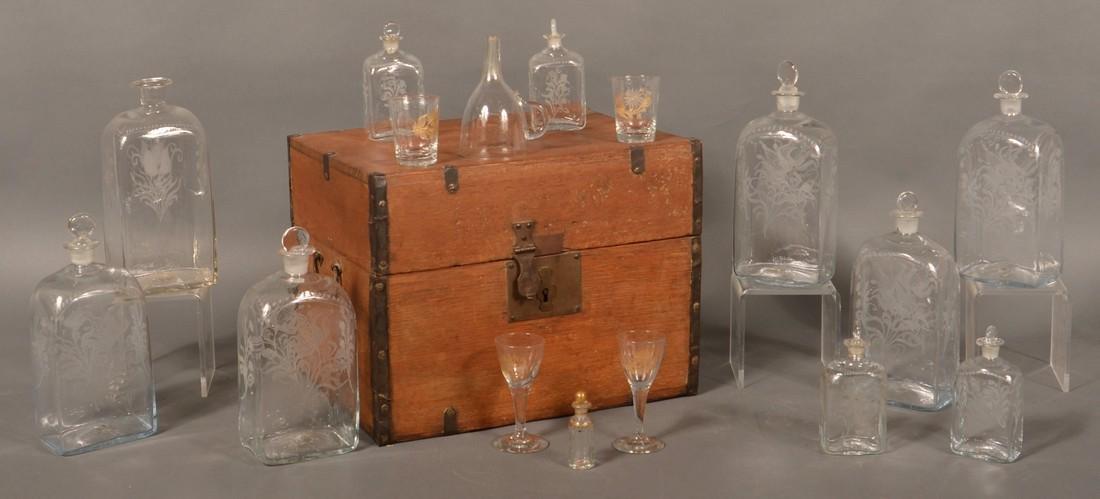 19th Century Oak Case Liquor Casket.