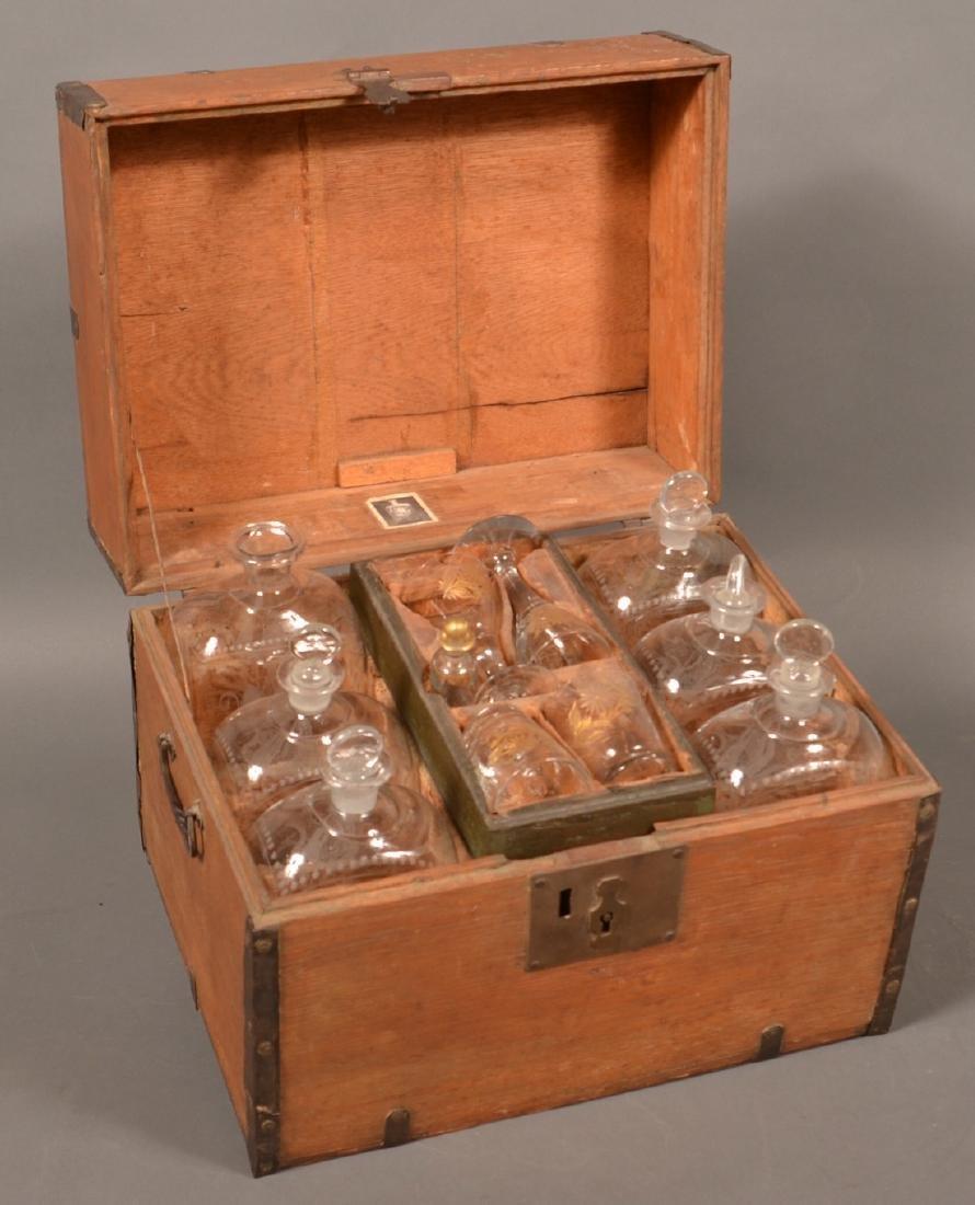 19th Century Oak Case Liquor Casket. - 2