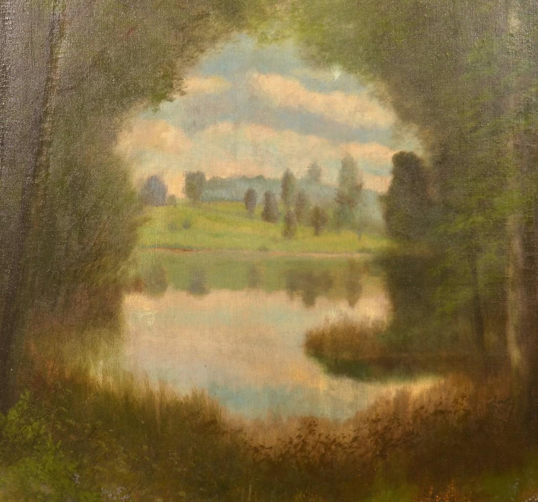 Ben Austrian Oil on Canvas Landscape Painting. - 2