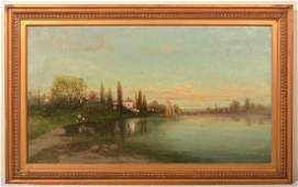 Christopher H. Shearer Oil on Canvas Painting.