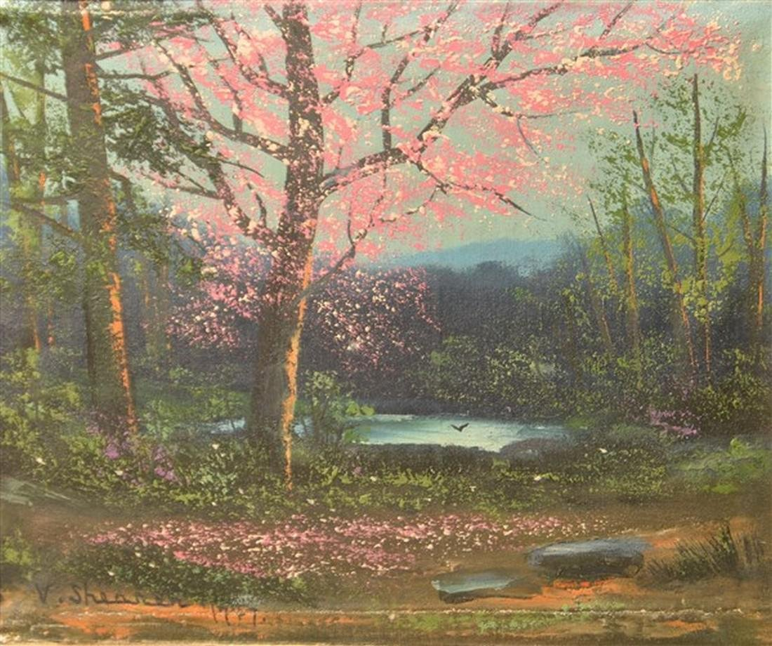 Victor Shearer Oil on Canvas Landscape Painting. - 2