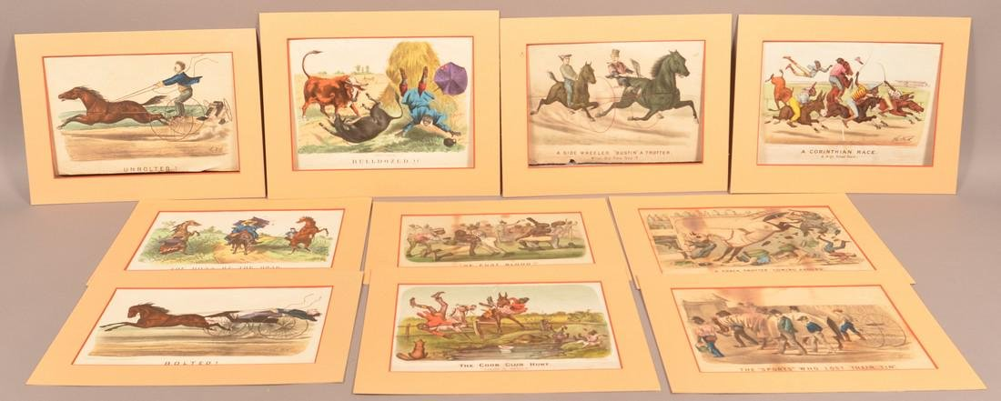 Ten Various Currier & Ives and Lipschitz Prints.