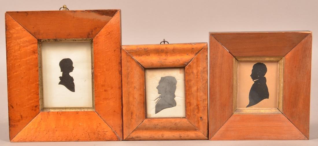 Three 19th Century Hollow-cut Silhouettes.