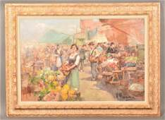 V. Mariam European Street Market Painting.