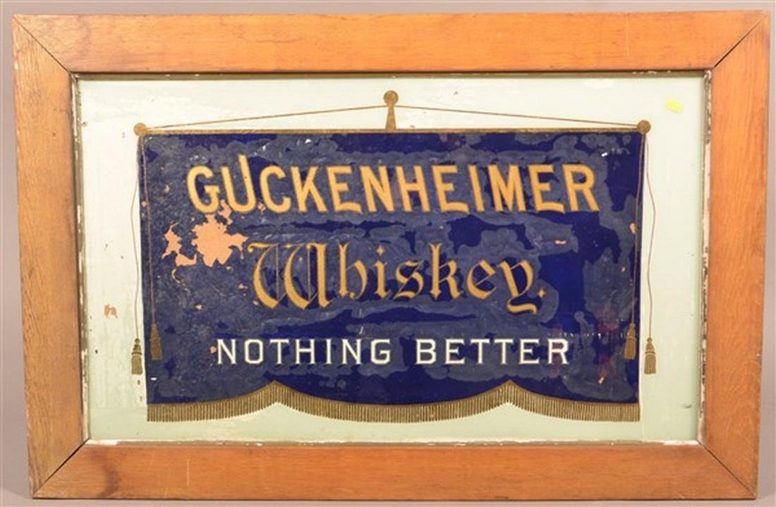 Guckenheimer Whiskey Advertising Sign.