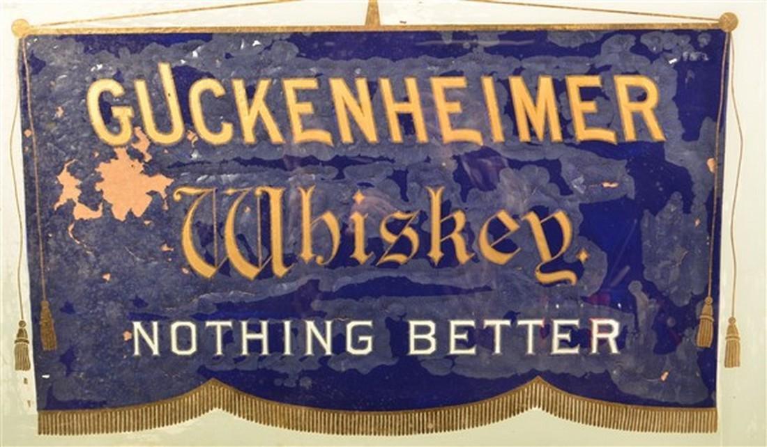 Guckenheimer Whiskey Advertising Sign. - 2