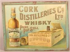 Cork Distilleries Co. Tin Litho. Advertising Sign.
