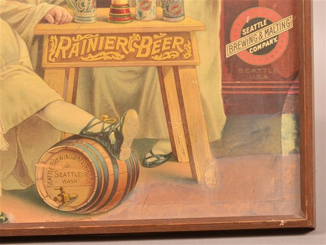 Rainier Beer Color Lithograph Advertising. - 2