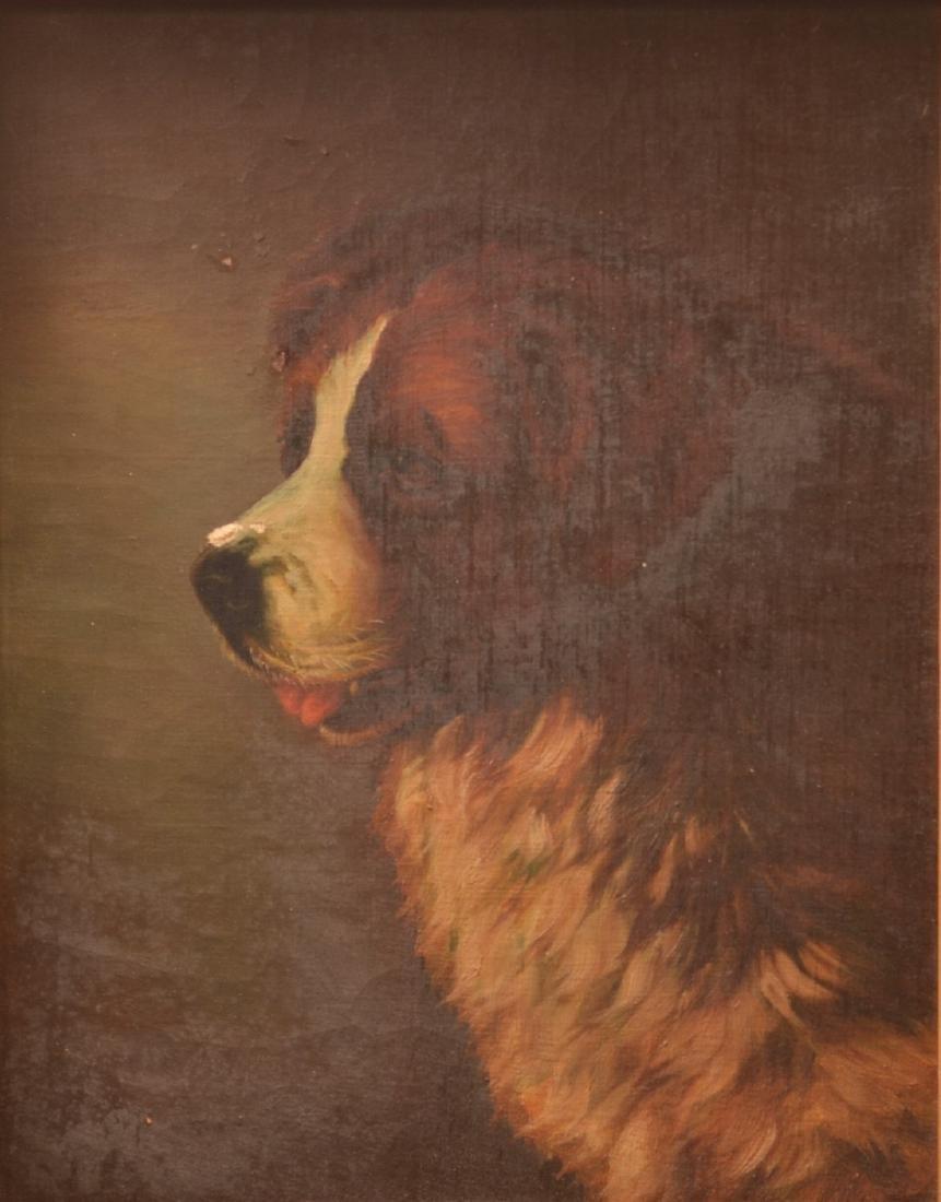 Oil on Canvas Saint Bernard Painting. - 2