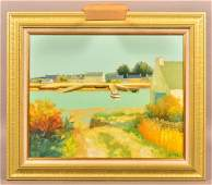 Jacques Eitel Oil on Canvas Landscape Painting